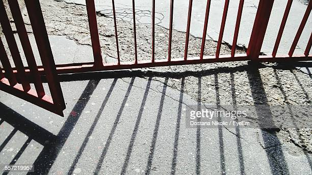 High Angle View Of Wrought Iron Gate
