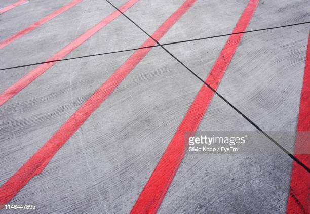 high angle view of zebra crossing - road marking stock pictures, royalty-free photos & images