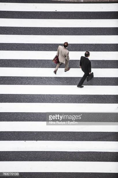 high angle view of zebra crossing - alina stock pictures, royalty-free photos & images