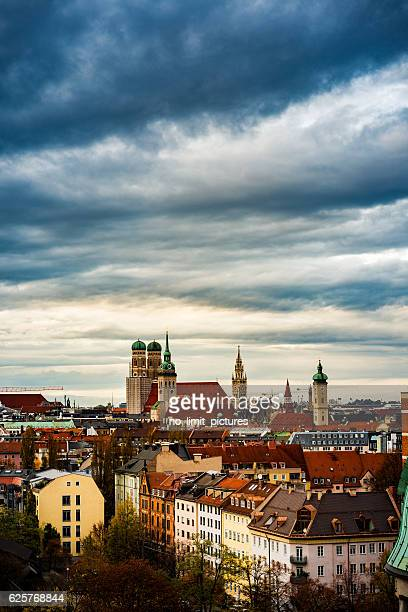 high angle view over munich - new town hall munich stock pictures, royalty-free photos & images