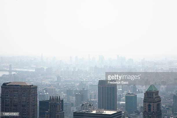 High angle view over New York City