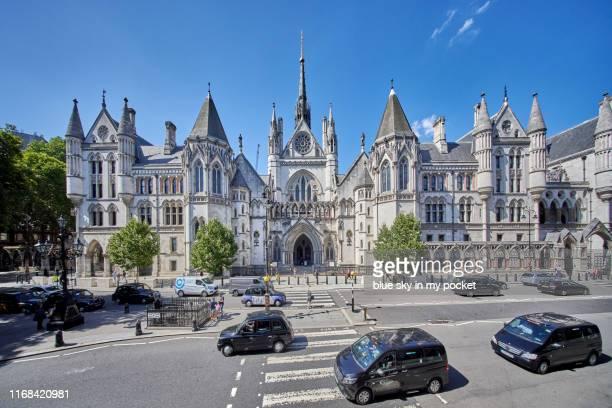 a high angle view point of the royal courts of justice, london. uk - royal courts of justice imagens e fotografias de stock
