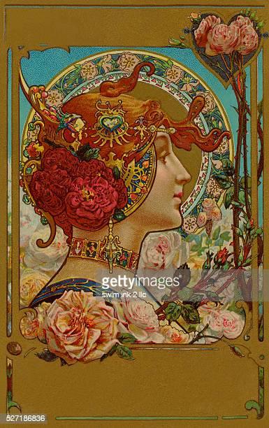High Art Nouveau illustration from circa 1892