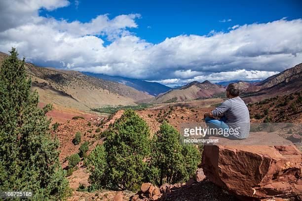 Haut Atlas Col de montagne, Maroc