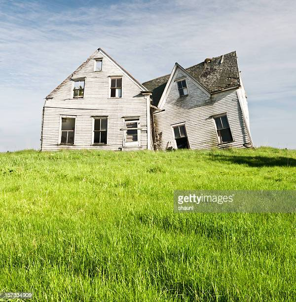 high bank house - abandoned stock photos and pictures