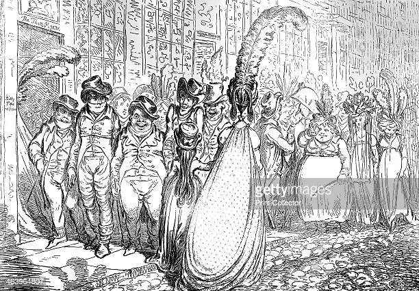 'High Change in Bond Street ou la Politesse du Grand Monde' 1796 Illustration from Social Caricature in the Eighteenth Century With over two hundred...