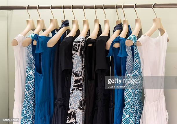 high class female clothing - rack stock pictures, royalty-free photos & images