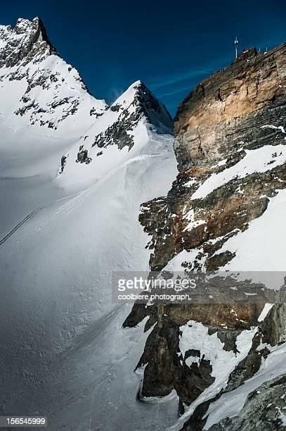 High Cliff at Junfraujoch of Switzerland