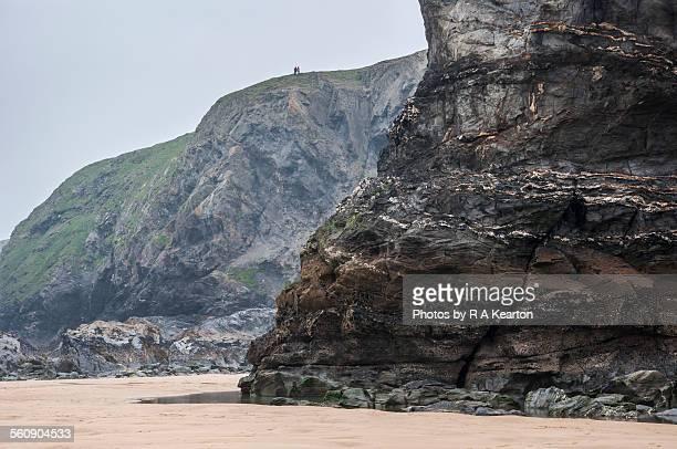 High cliffs at Bedruthan steps, Cornwall