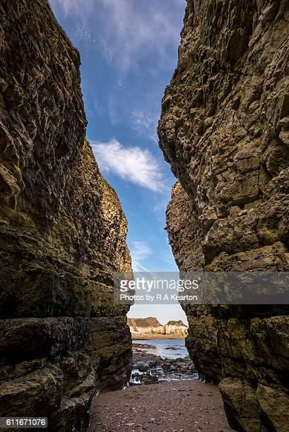 High cliffs at Thornwick bay, Flamborough, North Yorkshire