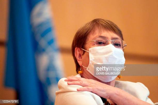 High Commissioner for Human Rights Michelle Bachelet attends the 44th session of the Human Rights Council at the European headquarters of the United...