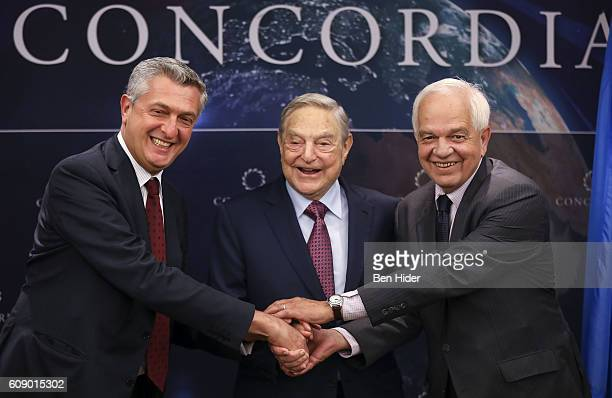 High Commissioner for Refugees United Nations HE Filippo Grandi Founder and Chair Soros Fund Management and the Open Society Foundations George Soros...