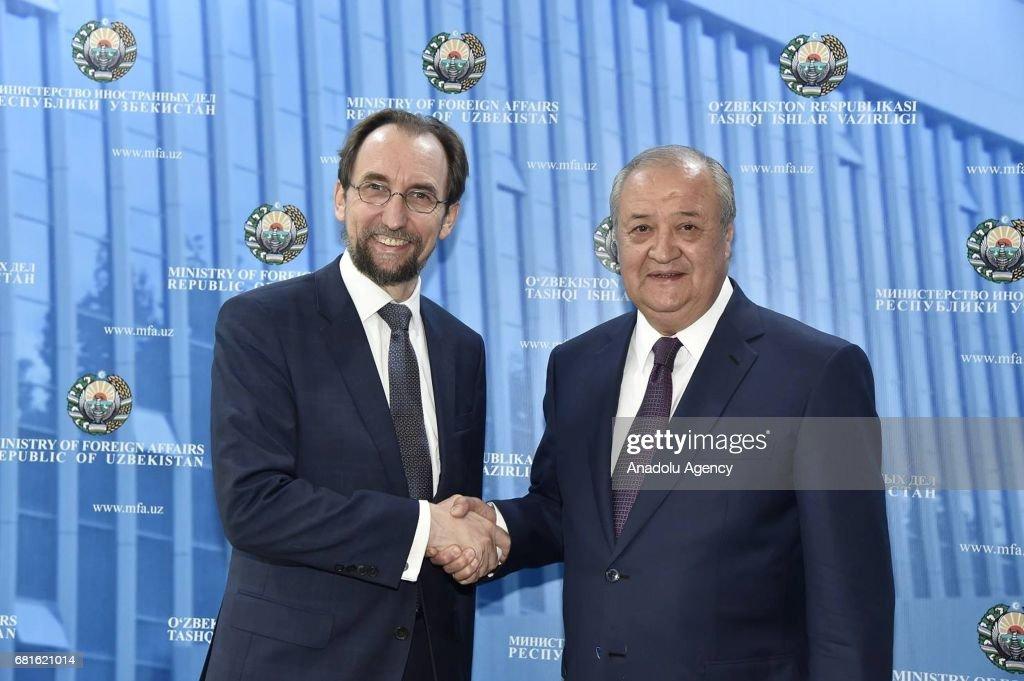 Zeid bin Raad Zeid al-Hussein in Uzbekistan : News Photo