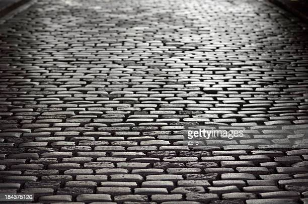 High contrast cobblestone background