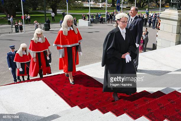 High Court manager Jane Penney leads Royal Commissioners Chief Justice Dame Sian Elias Court of Appeal President Justice Ellen France and Chief High...