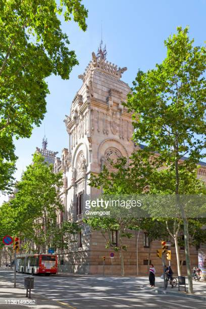 high court of justice of catalonia in barcelona - gwengoat stock pictures, royalty-free photos & images