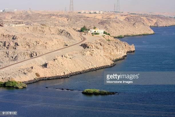 Presa alta en asuán, Egipto