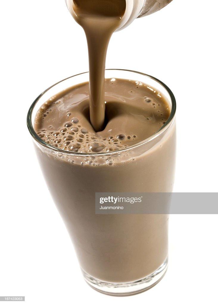 High Definition Chocolate Milkshake (or protein drink) : Stock Photo
