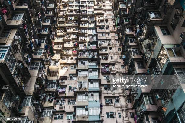 high density living in hong kong - great recession stock pictures, royalty-free photos & images