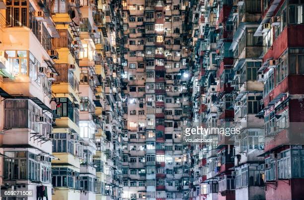 high density living - poverty stock photos and pictures