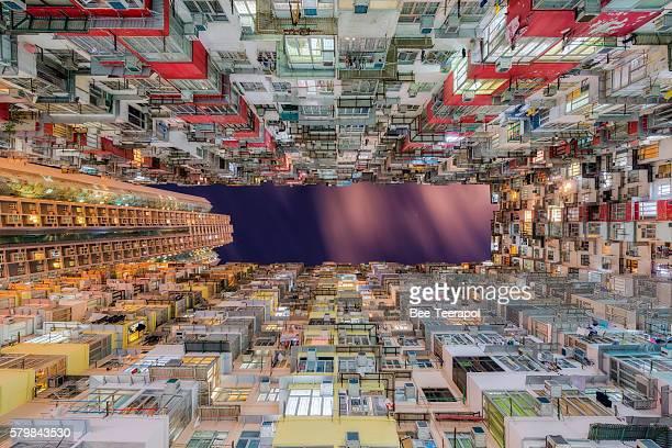 High density of Hong Kong old resident