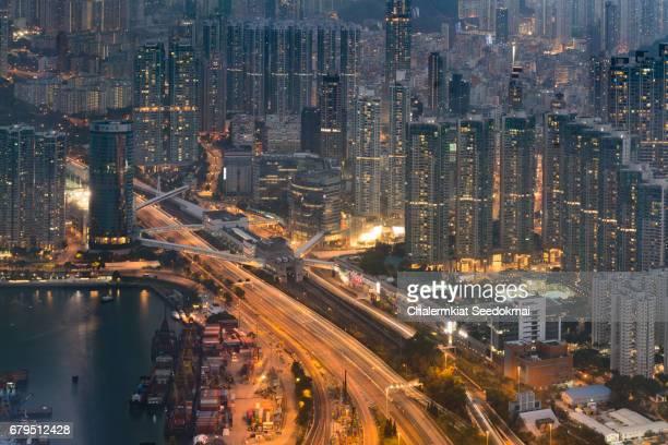 High density residential blocks in Hong Kong