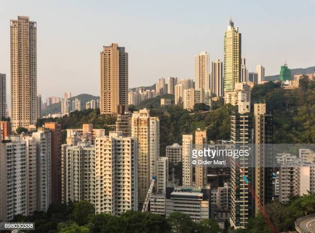 High density residential Happy Valley district in Hong Kong