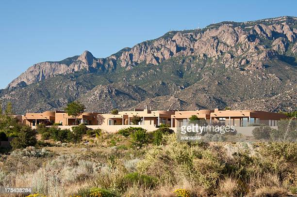 High Desert Community with Modern Southwest Adobe Houses
