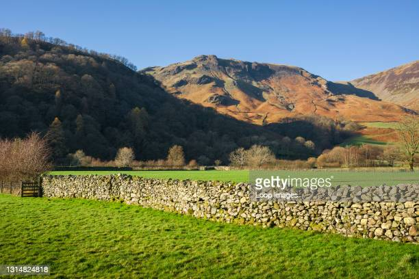 High Doat and High Scawdel from the Borrowdale Valley in the English Lake District National Park.