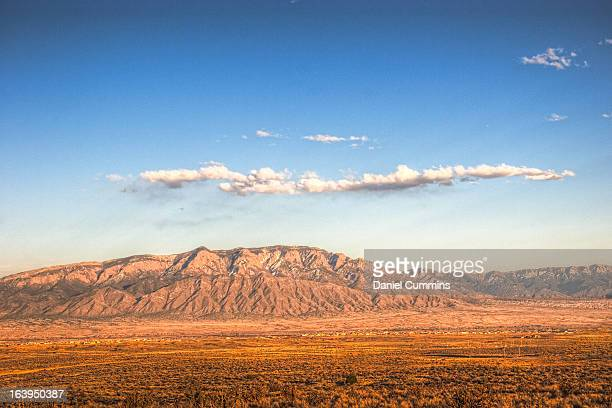 high dynamic topaz - sandia mountains stock pictures, royalty-free photos & images