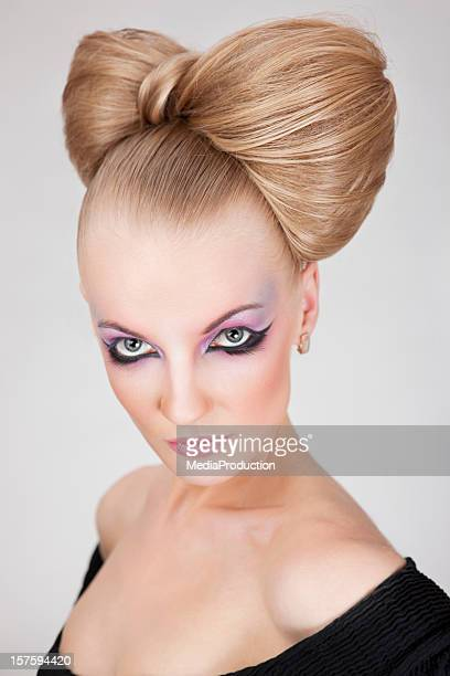 high fashion make up and hair style