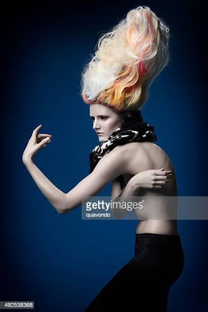 High Fashion Model with Cool Big Hair