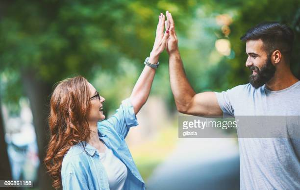 high five. - smooth stock pictures, royalty-free photos & images