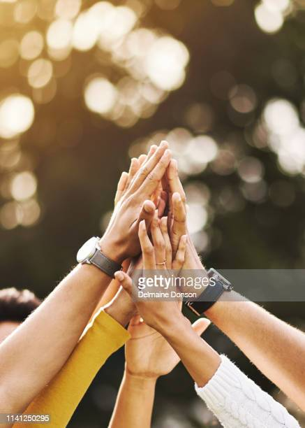 high five to the best friends i've ever had - togetherness stock pictures, royalty-free photos & images