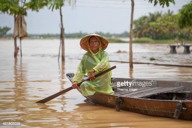 High flood in Hoian, Vietnam. Hochwasser in Hoi An, Vietnam.