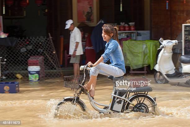 High flood in Hoian, Vietnam Hochwasser in Hoi An, Vietnam