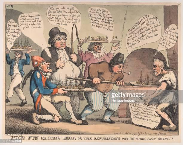 High Fun for John Bull or the Republicans Put to their Last Shift November 12 1798 Artist Thomas Rowlandson