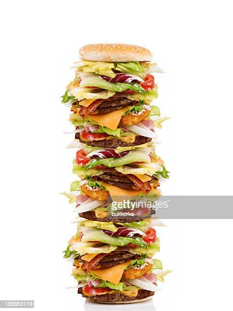 high hamburger - tall high stock photos and pictures