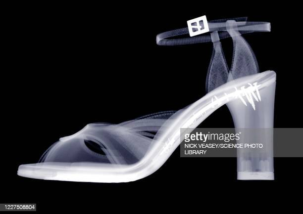 high heeled shoe, x-ray - womenswear stock pictures, royalty-free photos & images
