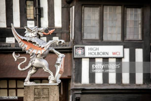 high holborn dragon - holborn stock pictures, royalty-free photos & images