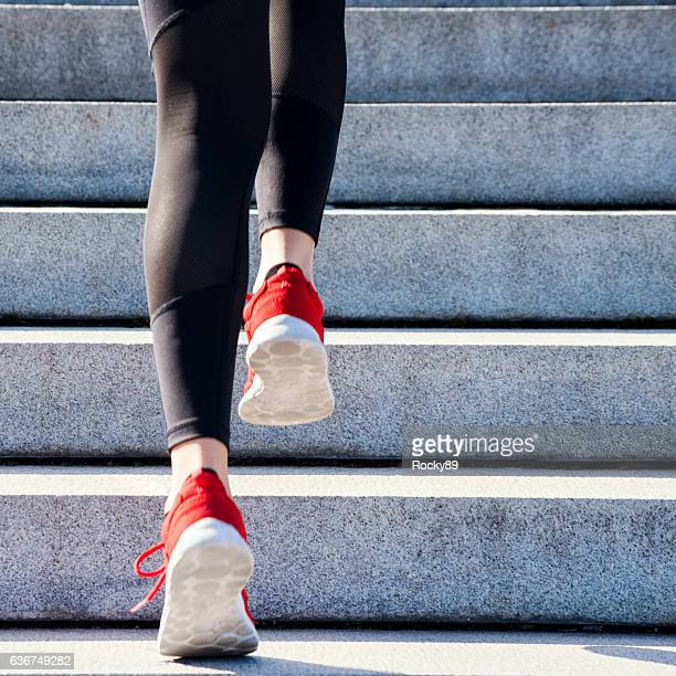 high intensity training - stairs stock photos and pictures