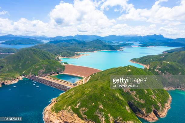 high island reservoir in hong kong global geo park of china in hong kong, china - china east asia stock pictures, royalty-free photos & images