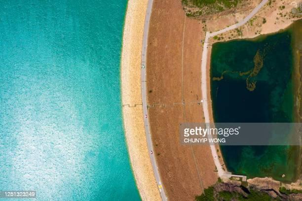high island reservoir a hong kong global geo park of china a hong kong, cina - china east asia foto e immagini stock