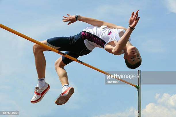 high jump athlete - high jump stock pictures, royalty-free photos & images