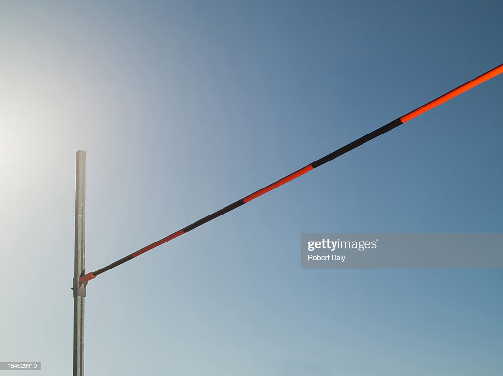 High jump bar : Stock Photo