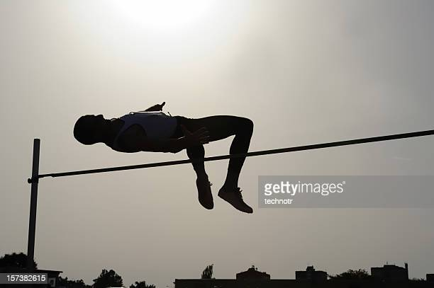 high jump - men's track stock photos and pictures