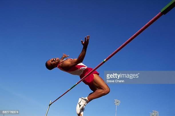 High Jumper Doing Fosbury Flop