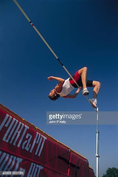 High Jumper Over Bar