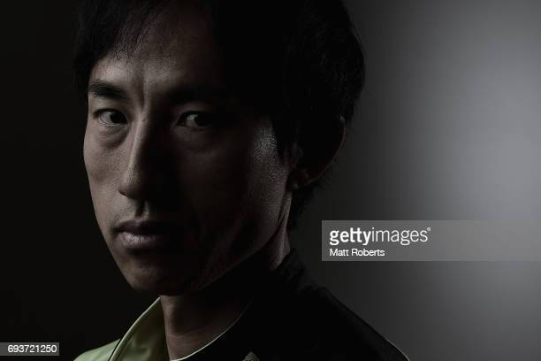 High Jumper Toru Suzuki of Japan poses for photograph during a portrait session on June 8 2017 in Tokyo Japan