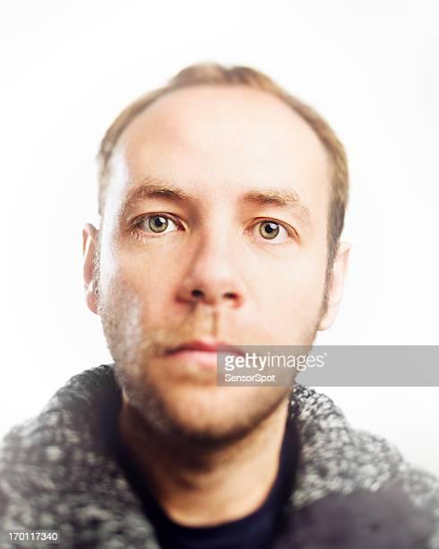 High-key portrait